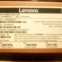 40A90090US Lenovo USB-C Dock Supports Charging For Thinkpad 13 2nd Gen Thumbnail
