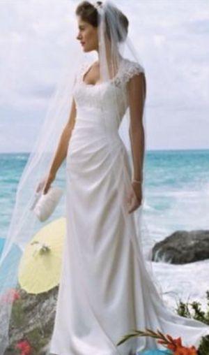 Davids Bridal Wedding Dress 12 For Sale In Pensacola FL