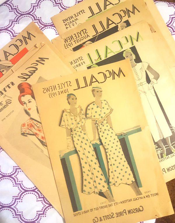 Vintage lot of art deco flapper antique Mccals & Butterick fashion ...