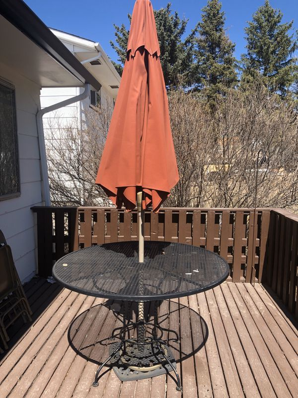 Patio Set With Umbrella Free For Sale In Colorado Springs Co Offerup