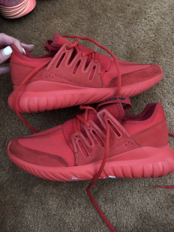 check out 82654 9fe83 Men's Adidas Tubular Radial Solar Red for Sale in Tampa, FL - OfferUp