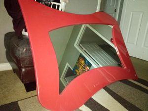 Large red retro mirror for Sale in Manassas, VA