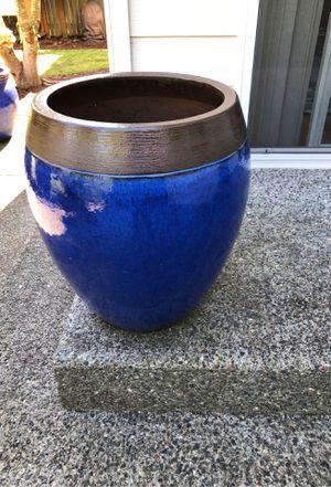 Photo Two Ceramic Patio Planting Pots