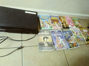 Free VCR and VHS like new free for Sale in Las Vegas, NV