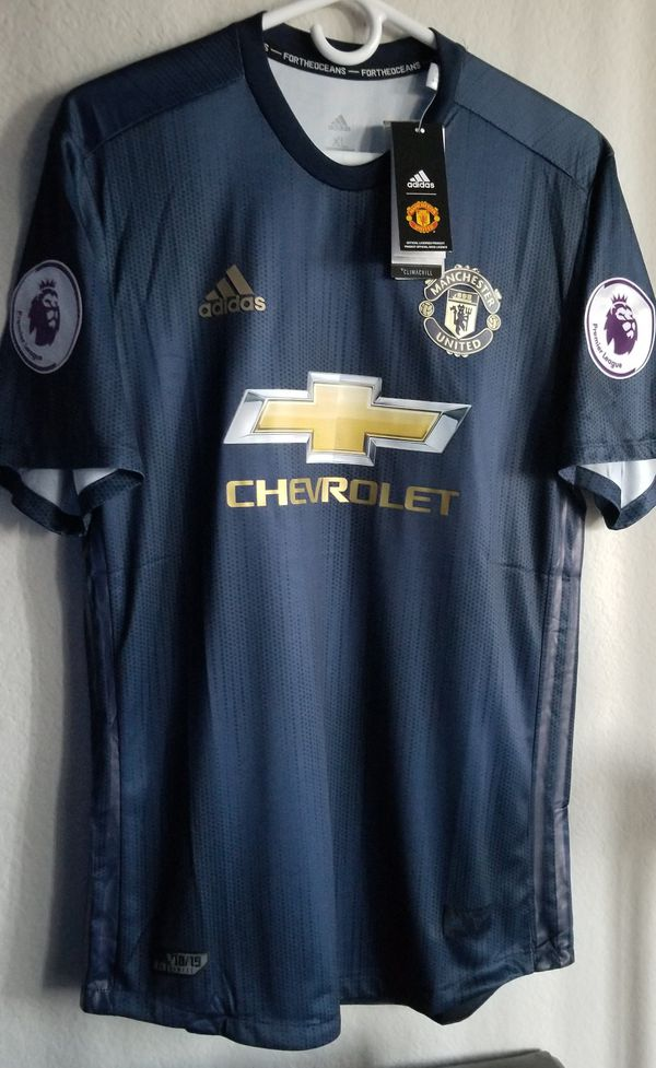 4b5bfc9e5 Adidas Mens 18 19 Man united third jersey parley climachill authentic for  Sale in Phoenix