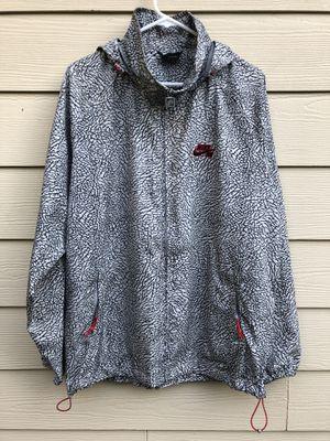 c7b222fd5ed4 Nike CEMENT 3 Air Jordan SB windbreaker Zip Up Hooded packable Jacket bred  accents elephant concrete
