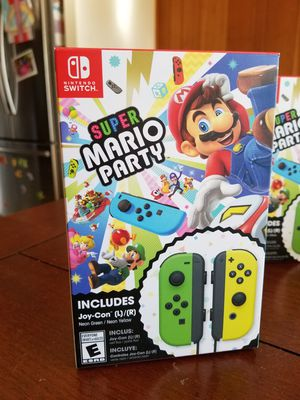 Nintendo Switch Super Mario Party + Neon Green/ Neon Yellow Joy-Con Set for Sale in Rockville, MD
