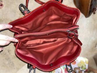 Coach Red Purse Handbag Thumbnail