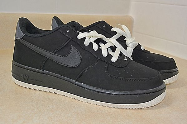reputable site e5574 c6626 NIKE AIR FORCE 1 (GS) SIZE 7Y YOUTH SHOES BLACK WHITE 596728 027 NEW