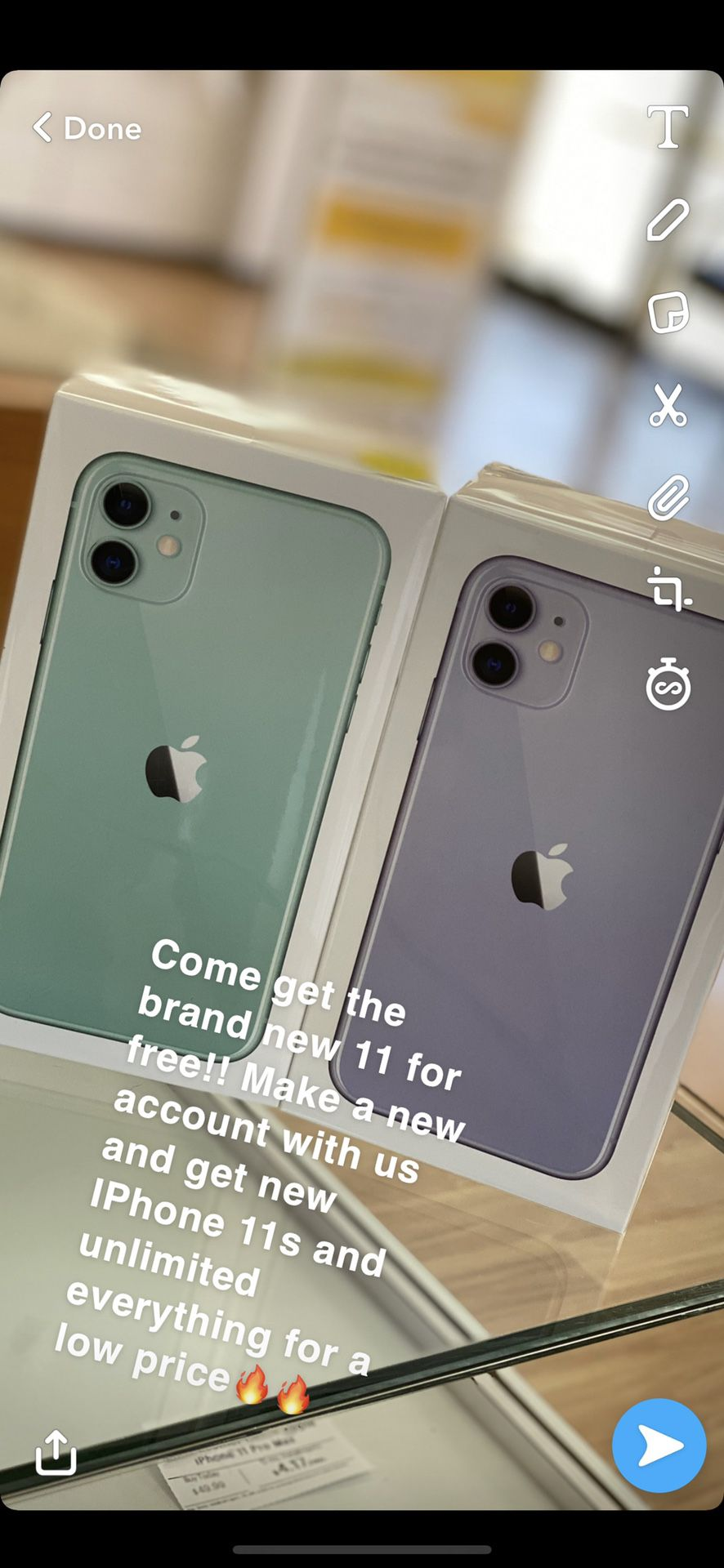 Free IPhone 11s when you open up a new account!!!!