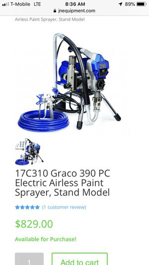 Graco 390 PC Electric Airless Paint Sprayer for Sale in Springfield, VA