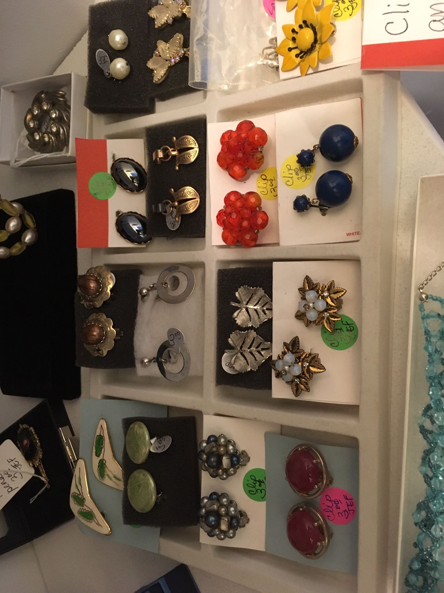 Vintage clip on and screw in earrings