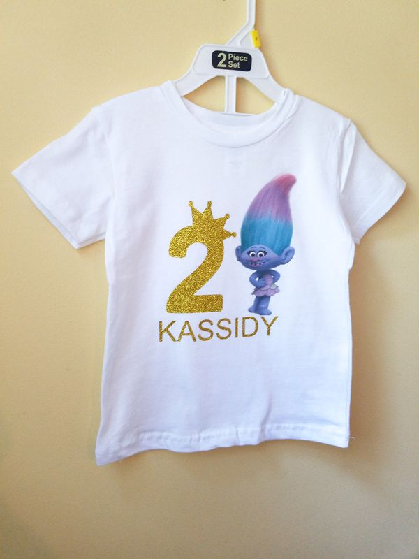 Trolls Personalized Birthday Shirt