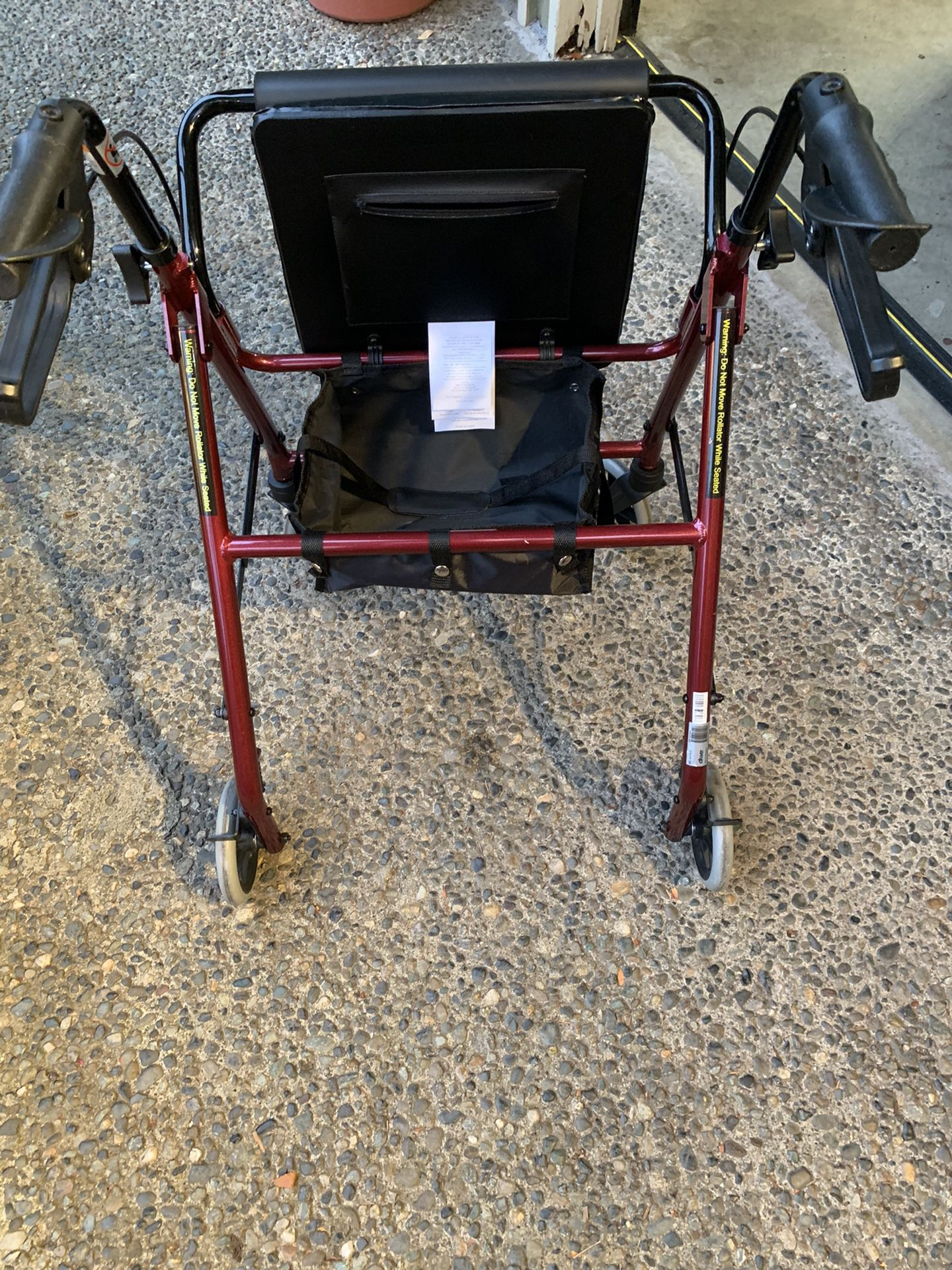 DRIVE Walker  With Brakes,  Seat, Storage  Can Fold For Easy Storage  Almost New   $100