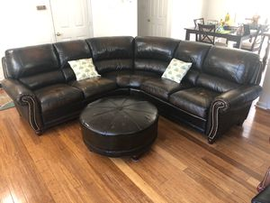 New and Used Leather couch for Sale in Raleigh, NC - OfferUp