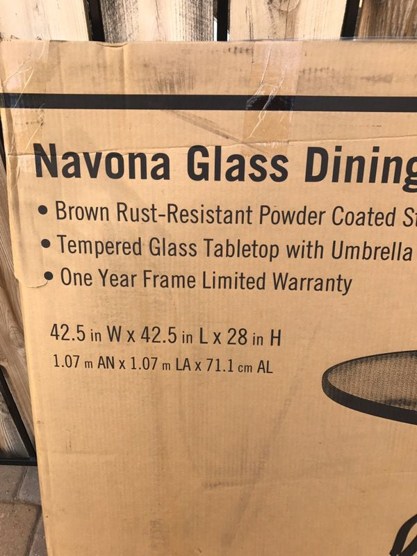 Hampton Bay Navona 42 Glass Dining Table For In Chandler Az Offerup