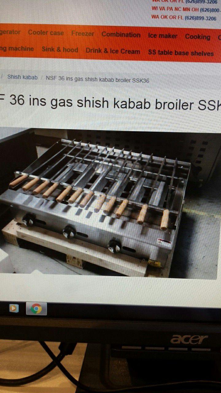 $1690!!!!! BRAND NEW NSF 36 INS GAS KABAB BROILER! ! ! ! !