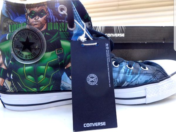 8aa721501cf0 Dc comics green arrow all star hi converse chuck taylors for Sale in El  Paso