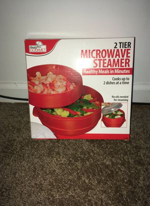 tv 2 tier microwave steamer for Sale in Austell, GA