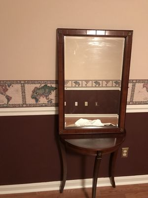 Hall table and mirror for Sale in Crofton, MD