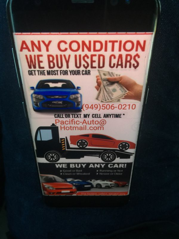 We buy cars $$ All types $$ Cars For Cars $$ good & Junk Cars ...