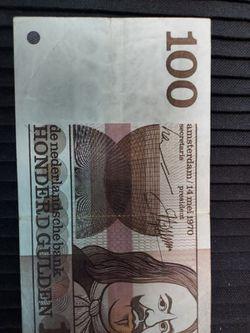 Netherland 100 Gulden 14.05.70 VF Thumbnail