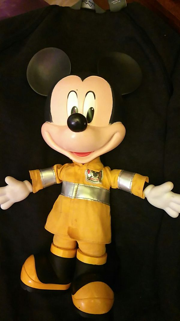 Collectible Fireman Mickey Mouse Doll General In San Jose Ca