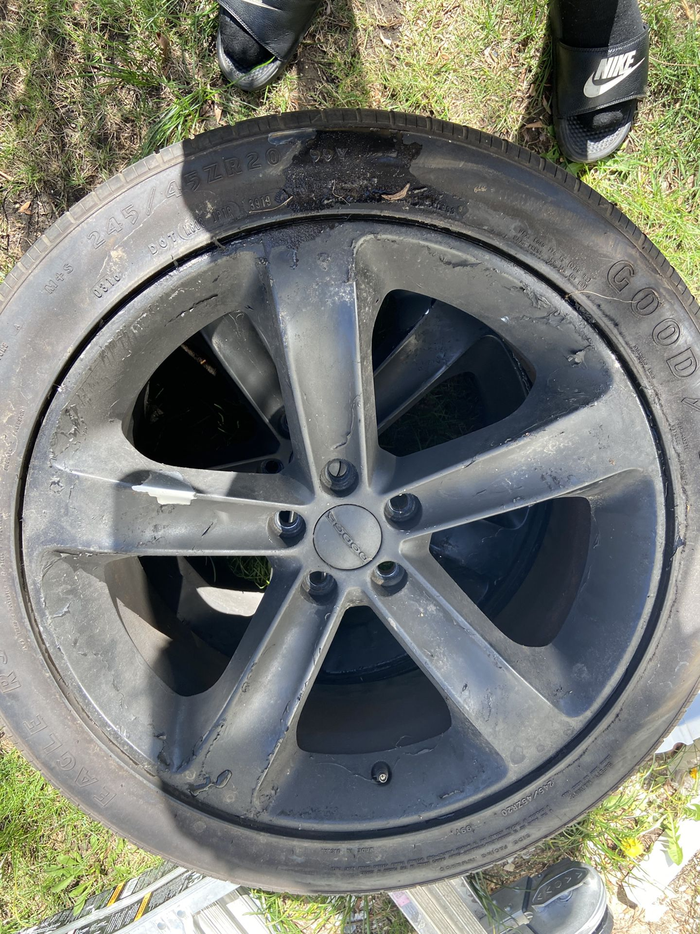 Dodge Charger Rims And Tires Rims Are Plastic Dip