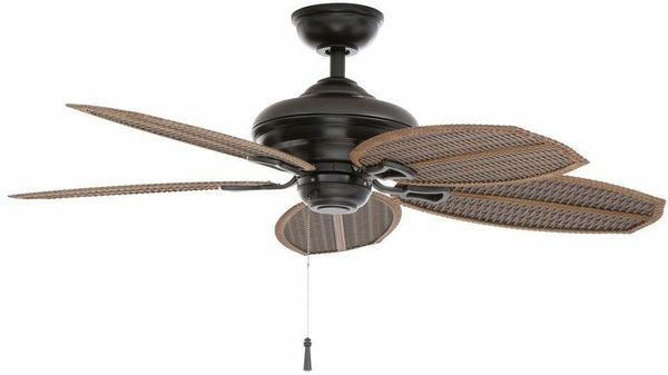 Hampton Bay Indoor Outdoor Ceiling Fan The Palm Leafs Very Nice