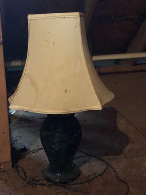 Green marble lamp for Sale in Charlottesville, VA