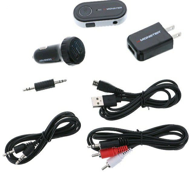 NEW! Monster 7 Piece Bluetooth Audio Receiver Kit with Voice Control