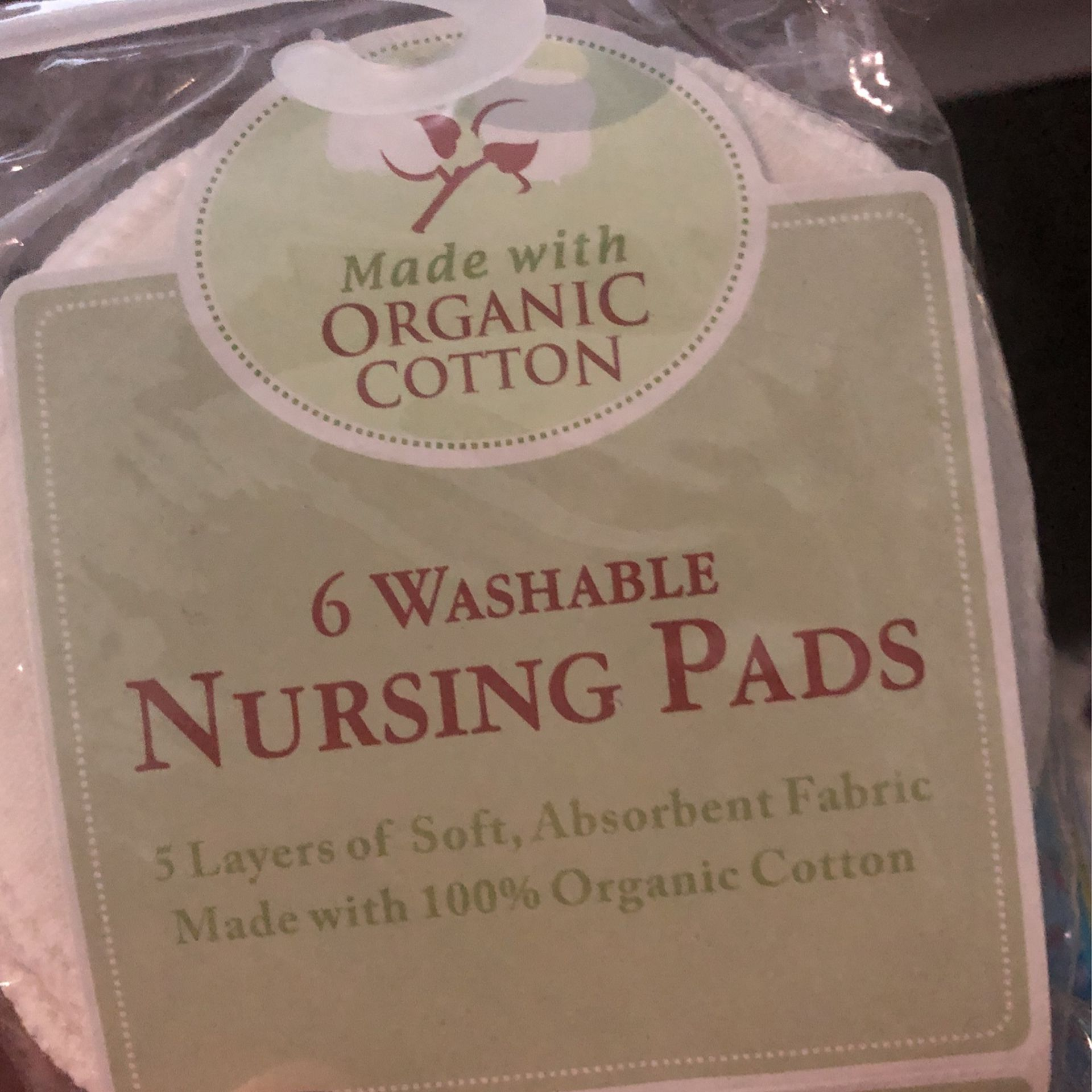 Lansino Stay Dry For Breastfeeding Pads, Washable Nursing Pads