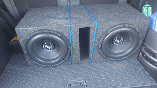 "Modesto Used Car Dealerships >> 2 12"" Audiopipe BD3 in ported box for Sale in Modesto, CA - OfferUp"