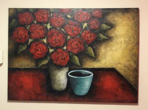 Flower Pot Acrylic Painting for Sale in Silver Spring, MD