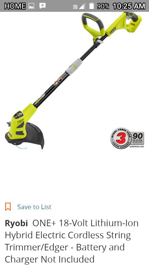 Ryobi electric / battery weed eater and edger for Sale in Cleveland, GA -  OfferUp