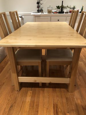 IKEA Norden Table, four chairs for Sale in West Springfield, VA
