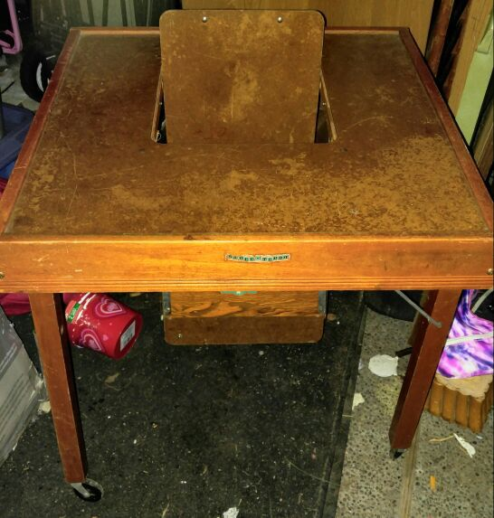 Antique 1940\'s Childs Play Table BABEE TENDA SAFETY CHAIR Portable ...