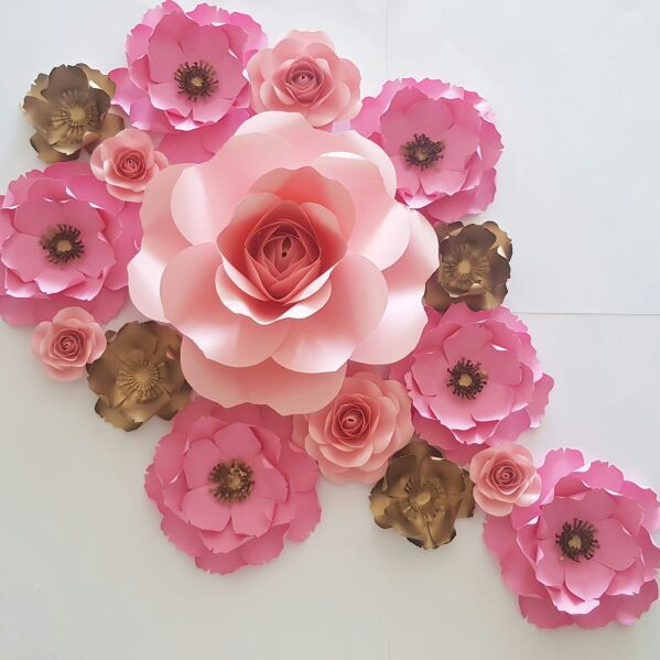 Paper flowers backdrop decorations baby shower wedding for sale 120 mightylinksfo