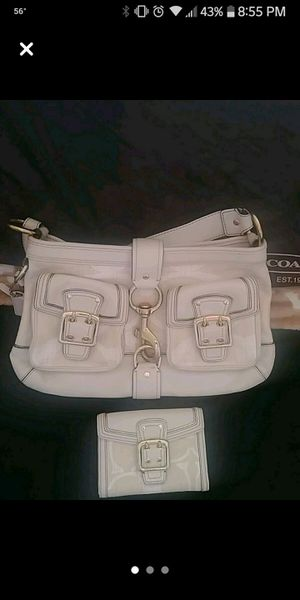 Photo Coach bag and matching wallet