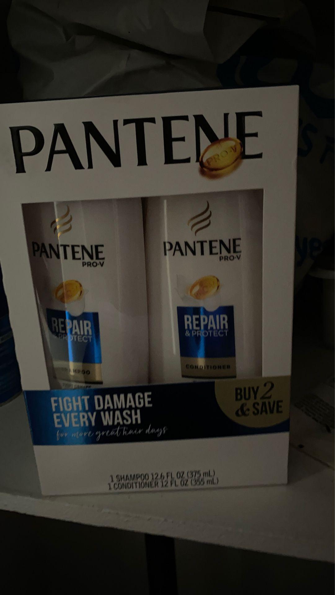 Shampoo and conditioner Pantene