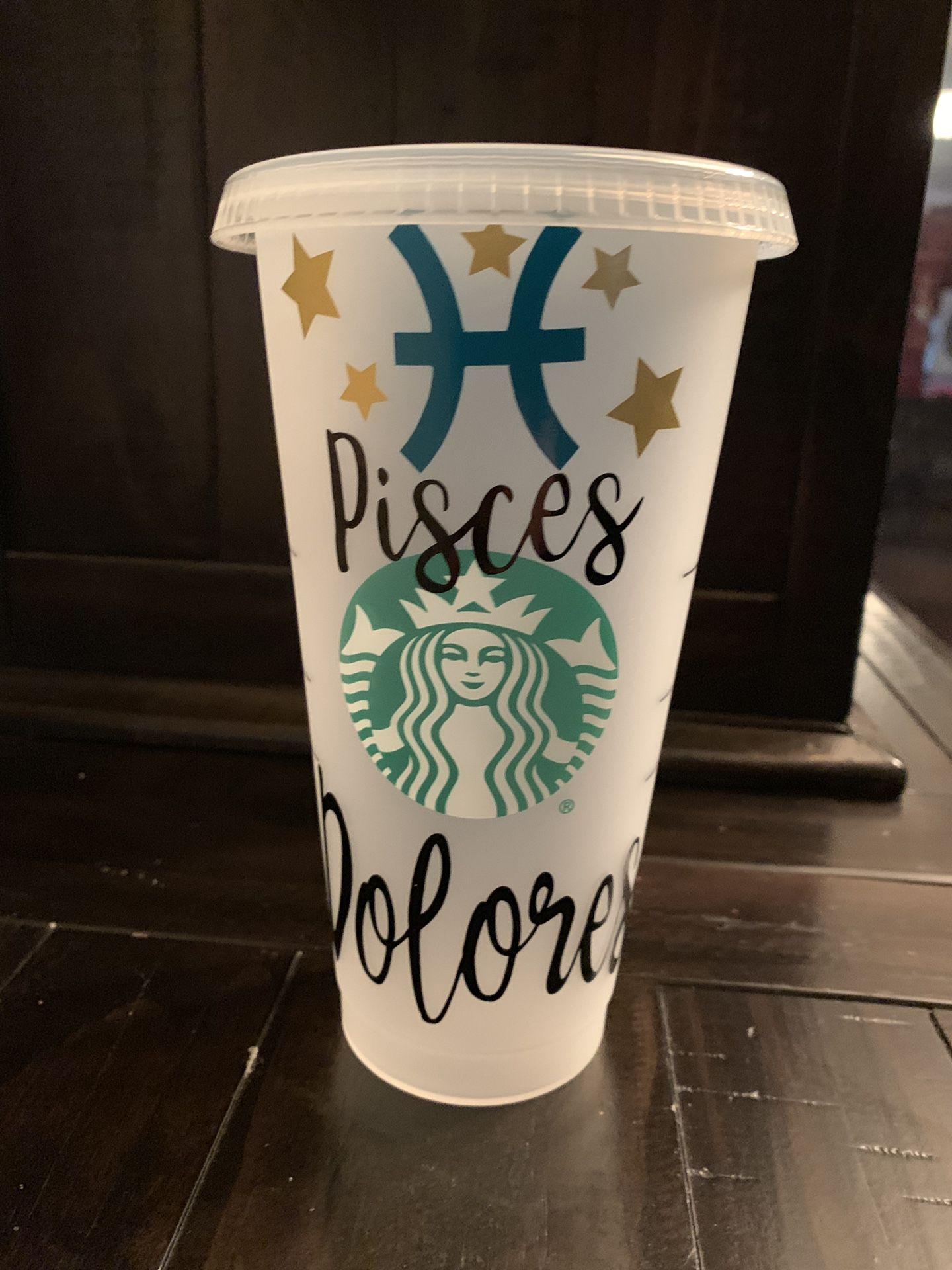 Personalized Zodiac Starbucks Cups