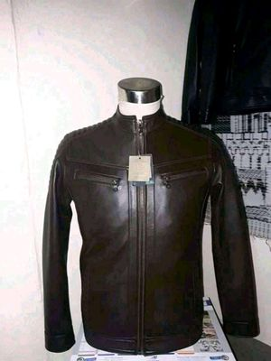Men's real Leather jacket for Sale in Fairfax, VA