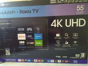 """Sharp. Roku TV 55"""" for Sale in MONTGOMRY VLG, MD"""