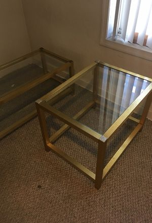 Gold and glass tables for Sale in Pittsburgh, PA