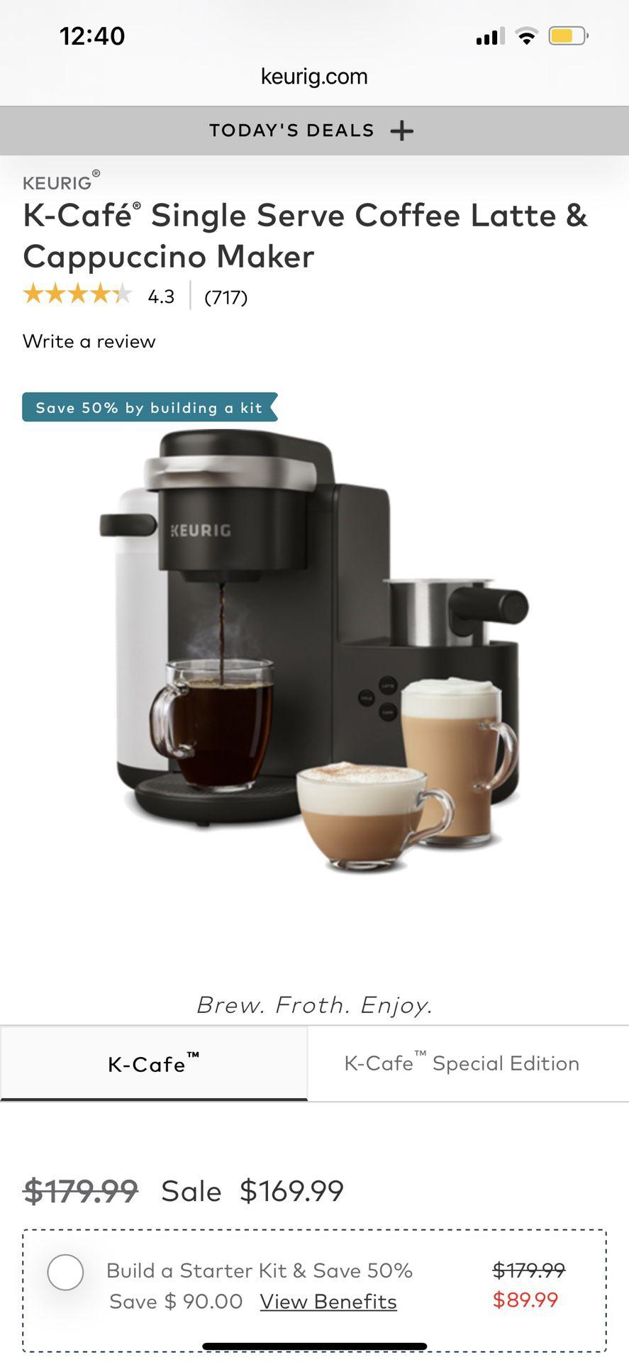 KEURIG K-Cafe  Coffee, Cappuccino & Latte Maker