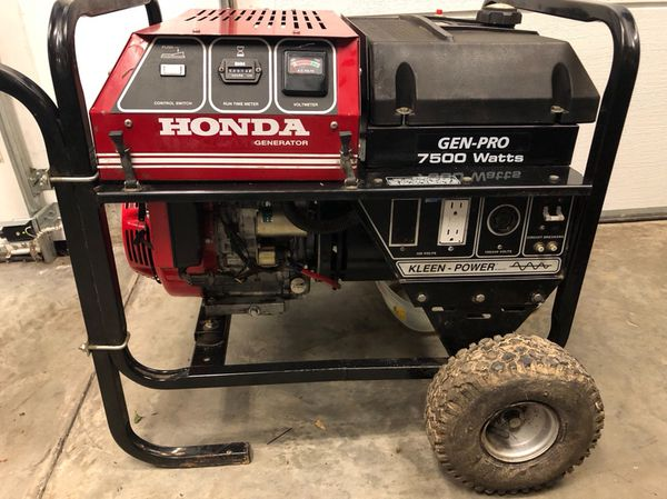 Honda 7500 Watt Generator Electric Start No Issues Starts On The First Pull Ing This 13 Hp