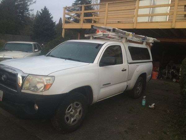 Toyota Tacoma Canopy >> Toyota Tacoma White Commercial Canopy Truck Topper Cap With