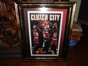 Houston Rockets Memorabilia 1995 Championship Framed Posted for Sale in Fort Belvoir, VA