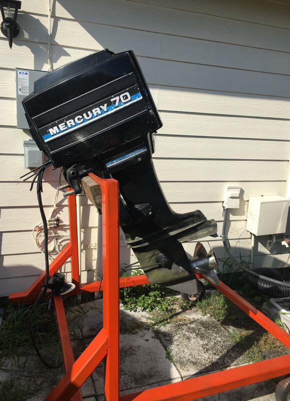 Mercury 70 hp outboard with heavy duty engine stand for Sale in Kissimmee,  FL - OfferUp