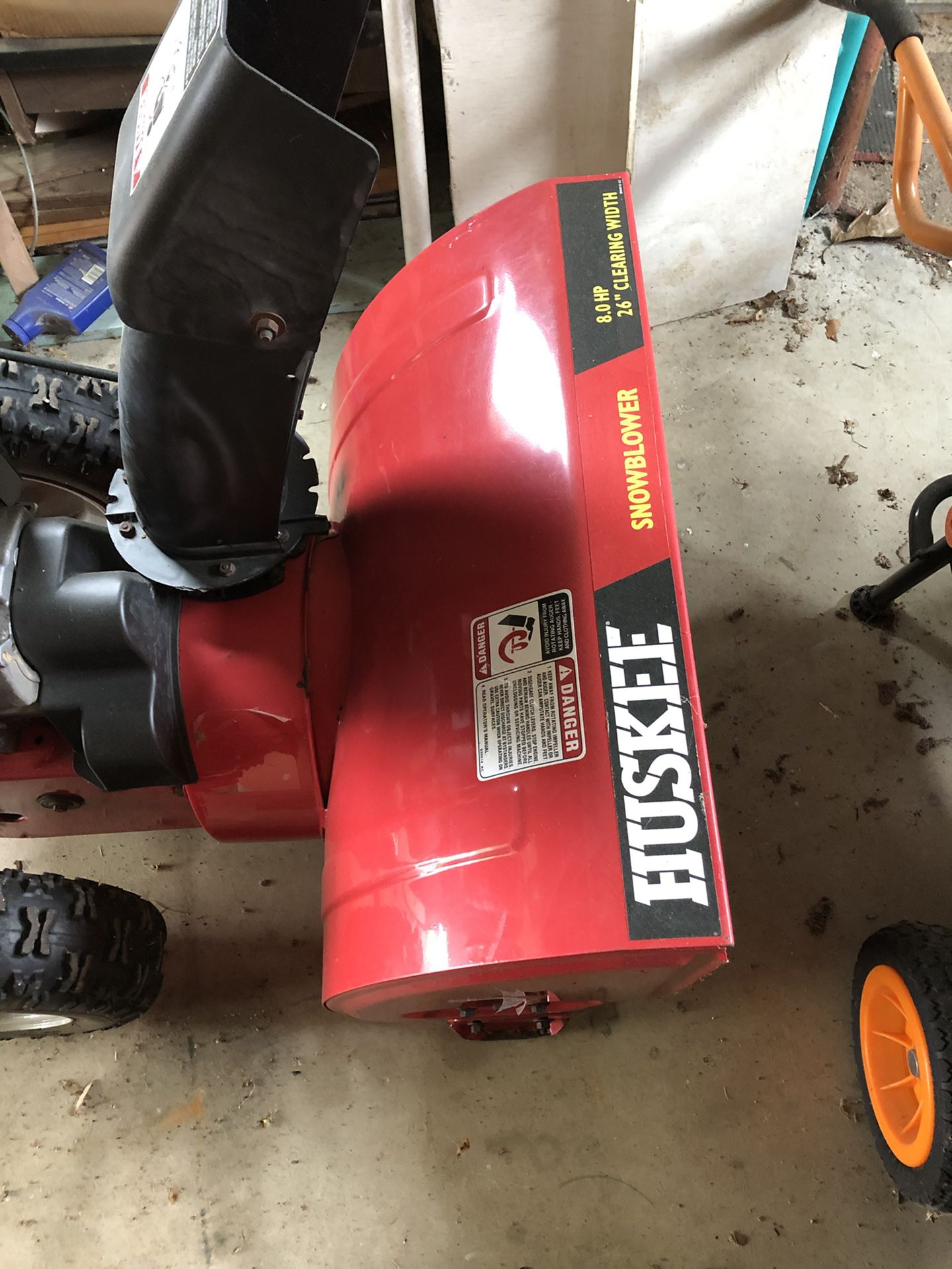 "Huskee Snow Blower 26"" 8HP"